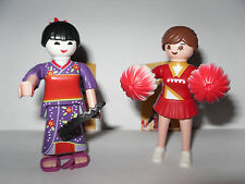 Serie 2 * Girls * 2 x Playmobil 5158 * geisha + animadoras * nuevo