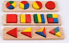 Set of 3 Montessori 3D Basic Baby Toddler Wooden Toy Size and Shape Puzzle