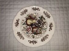 "JOHNSON BROS. WINDSOR WARE WINDSOR FRUIT RIBBED DINNER PLATE 10"" VGC"