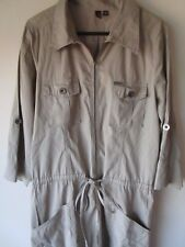 Ladies Colorado khaki shirt Dress with zip front and roll up sleeves Size 10