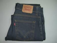 Mens LEVI'S 511 Dark Blue Slim Fit Wax Coated Stretch Denim Jeans W32 L34