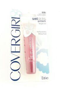 CoverGirl Wetslicks Fruit Spritzers Gloss Raspberry Splash 535 Lip Gloss CARDED