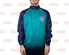 Seattle Mariners Baseball Jacket Blue Teal Vintage Mariners Windbreaker Coat L