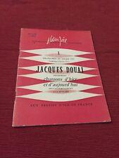 Jacques Douai - Chansons d'hier et d'aujourd'hui - Presses d'ile-de-France - B9