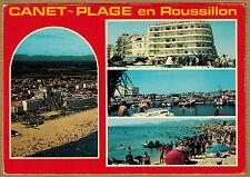Cpsm / Cpm Canet Plage St Nazaire en Roussillon - vue générale port place wn0364