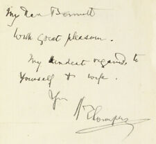 1880s   sir henry thompson   surgeon polymath   short signed note to physician