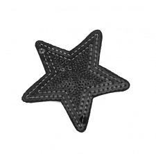 Bügel-Pailletten-Applikation Stern schwarz ca. 7,5cm