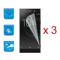 3 x Screen Protector Cover Guard LCD Film Foil & Cloth For Sony Xperia XA1