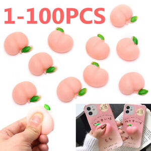 Funny Decompression Gadget Soft Mochi Squishy Squeeze Peach Toy Phone Case Decor