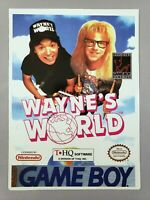 Wayne's World - Toys 'R' Us Display Card - Game Boy Nintendo - VidPro - RARE