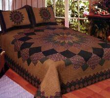 Alexandra Dahlia 3 Pc FULL / QUEEN QUILT Bedding Set -Coverlet Vintage Bedspread