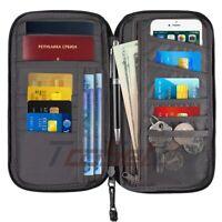 RFID Blocking Document Organizer Case Travel Wallet & Family Passport Holder