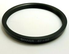 Bower 67mm to 62m Metal screw in step-down ring for lens filter