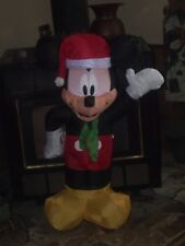CHRISTMAS LIGHTED AIRBLOWN INFLATABLE MICKEY MOUSE WAVING FIGURE YARD DECORATION
