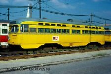 ORIGINAL SLIDE RTA PCC CAR 44 CLEVELAND OHIO 1980