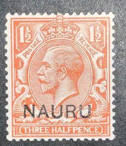 Travelstamps: 1923 NAURU STAMPS #3 Mint, MOGH GREAT CENTERING Three Half Pence