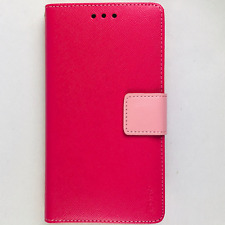 HTC Desire 816 Pink Wallet ID Card Case Protective cover Magnetic Flip REIKO