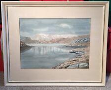 Vintage Watercolour Painting by Donald Mann - Scottish Highlands poss. Ben Nevis