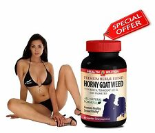 Male Stamina Horny Goat Weed w/ Maca Tongkat Ali Saw Palmetto Free Shipping (1)