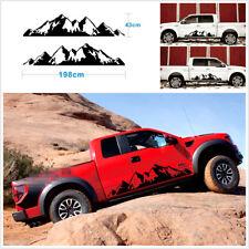 2 Pcs Car Off Road Snow Mountain Vinyl Decal Sticker 198x43cm/78x17'' Large Size