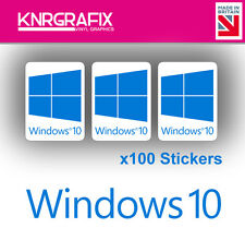 Knr7717 100x Windows 10 Sticker Decal Badge