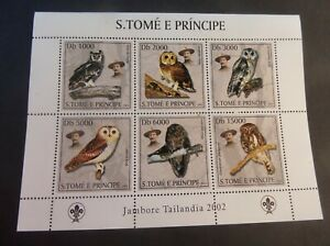 St Thomas & Prince Island 2003 Birds  Owl Sheetlet MNH UM unmounted mint