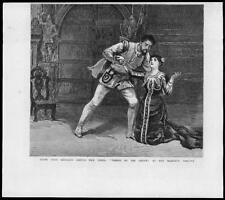 1880-ANTIQUE PRINT London Majestys THEATRE Taming shrew Hermann Goetz (022)