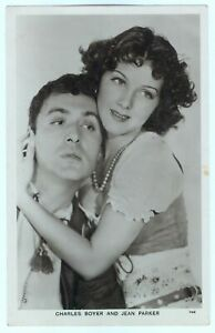 Actor Charles Boyer With Actress Jean Parker Vintage Movie Real Photo Postcard