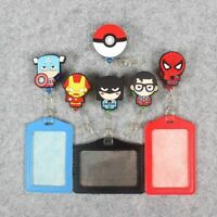 ID Holders Identity Badge With Cartoon Retractable Reel Silicone Card Case Boy
