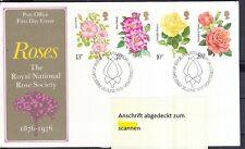 Großbritannien 1976 FDC MiNr. 711-714  Königliche Nationale Rosengesellschaft