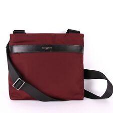 6a7df435b579 Michael Kors Kent Mens Medium Nylon Flat Crossbody Swingpack Malbec Wine