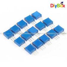 15pcs 100 500k 15value 3296 Trimmer Potentiometer Assorted Variable Resistor