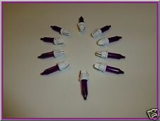 2.5 Volt Replacement Christmas Mini Light Bulbs - 100 Purple Bulbs