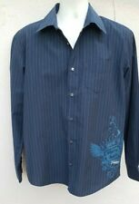 """Men's Billabong Striped Cotton Mix Long Sleeved Shirt Size M, To Fit Chest 38"""""""
