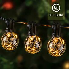38FT Indoor Outdoor LED String Light for Patio Garden Backyard Party Christmas