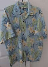 Tommy Bahama 100% Silk Hawaiian Camp Shirt Floral XL EUC