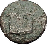 OLYNTHOS MACEDONIA 420BC Chalkidian League Ancient Greek Coin APOLLO LYRE i62381