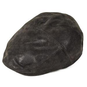 Whiteley Hats Brockham Leather Panel Cap - Brown