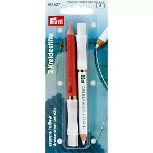 Dress Makers Chalk pink/white pencils/brushes, Sewing Quilting Craft Prym 611627