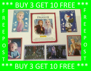 PANINI DISNEY FROZEN 2 STICKERS* BUY 3 GET 10 FREE* FREE POST F,S AND L,S  CARDS