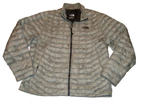 The North Face Thermoball Quilted Puffer Jacket Light Gray Men's XL