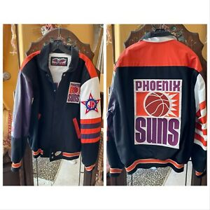 RARE Vintage NBA Phoenix Suns Custom Leather Jacket Jeff Hamilton (Men's M)