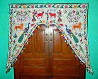INDIAN HANDMADE PATCHWORK EMBROIDERED DECORATE DOOR TORAN VALANCE  HANGING  04
