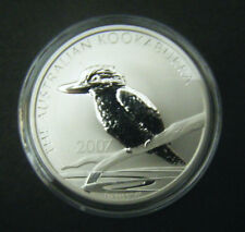 2007 Australian Kookaburra $1 1 oz Silver Bullion Coin .999 Fine Dollar round