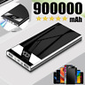 Ultra-Thin Portable Power Bank 900000mAh 2USB LED&LCD Battery Fast Charger Pack