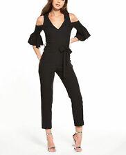 Miss Selfridge Womens Black Flute Sleeve Jumpsuit Size 6 BNWT