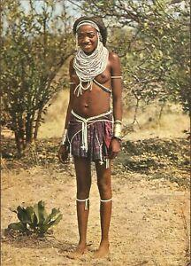 "1960's - ANGOLA - Ethnic postcard - ""Kaconda"" Woman, ""UMBUNDO"" tribe"