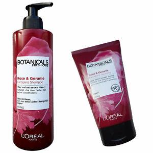L'Oreal Botanicals Fresh Care Rose & Geranie Farbglanz Shampoo + Spülung Set