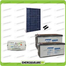 Kit placa solar 280W 24V Baterías 200Ah AGM Regulador de carga PWM 10A EpSolar L