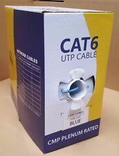 CC-CT6-BL 1000 FT BULK CABLE CAT6 PLENUM RATED BLUE